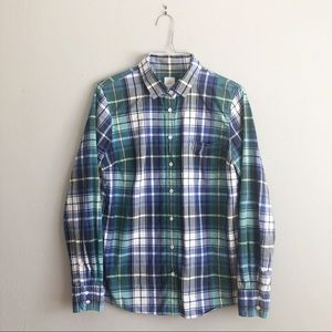J Crew The Boy Shirt Collared Button Down Size 6